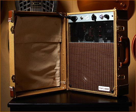 The classic blues sound of a tube amp built into a suitcase